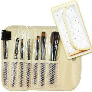 """Silver Star - Makeup Brush x 7pcs CODE: 34T by Beauties Factory. $8.99. Package include: 7 Pcs Makeup Brushes Set - Powder / Blush Brush - Large Round Eyeshadow Brush - Round Eyeshadow Brush - Small Round Eyeshadow Brush - Lash & Brow Comb (Dual Tips) - Eyeshadow / Eye Definer Brush - Lipstick Brush Package description: 100% Brand new in retail package 7 Pcs Makeup Brushes Set Brushes varies from 5"""" to 5-3/4"""" in length Protective portable *Roll-up* holder bag, easy to ..."""