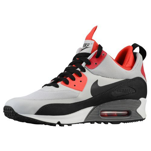 nike air max 90 mens shoes white / black / red interlocking