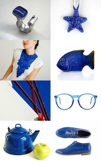 Cobalt beauties by Deb Babcock on Etsy--Pinned with TreasuryPin.com