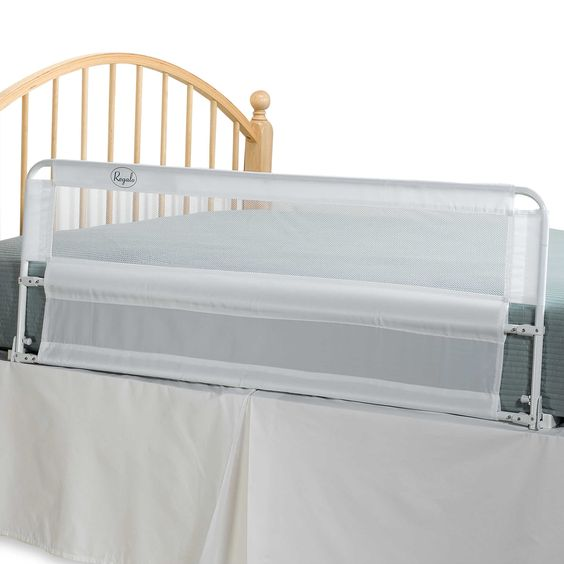 Hide Away Extra Long 54 Inch Portable Bed Rail By Regalo Portable Bed Bed Rails For Toddlers Extra Long Bed