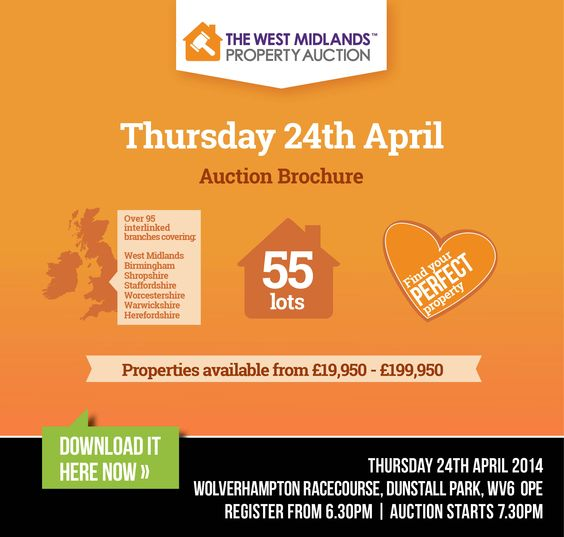 The auction brochure for the West Midlands 2nd live auction event of 2014 is now ready to download!  We have 55 lots available ranging from £19,950 to £199,950 so there is something to suit all needs!  View the full lot list here:http://www.iam-sold.co.uk/public/wmpa%20catalogue_24thapril_spreads.pdf  For further information please call our team on 0121 3660 539 or visit www.twmpa.co.uk to find out more. See you there!