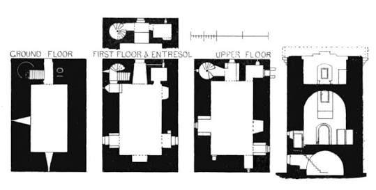 Resultado De Imagem Para Scottish Tower House Plans Castle Plans Tower House Tower