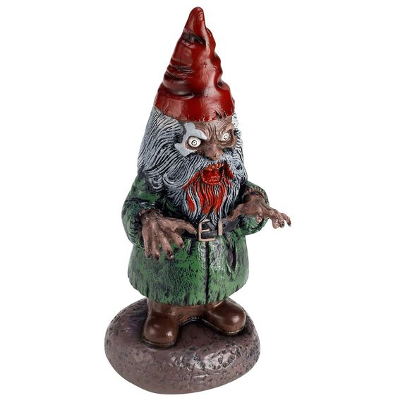 An economy zombie garden gnome. Not as cute as the other I found, but this would definitely do!