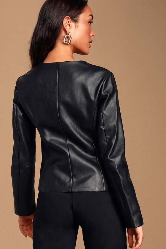 Ad Never Back Down Black Vegan Leather Jacket Lulus Bold But Chic The Lulus Never Back Dow Black Vegan Leather Jacket Vegan Leather Jacket Leather Jacket