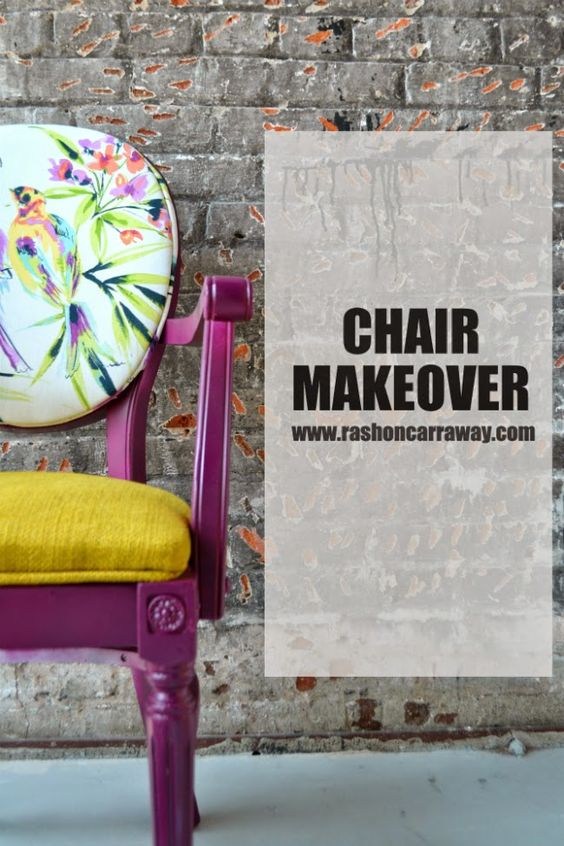 HOW TO: makeover a side chair - Rashon Carraway