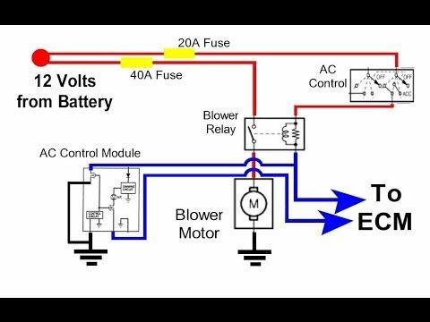 Auto Hvac Condenser Fan Circuit Youtube Electrical Wiring Diagram Car Radiator Radiator Fan