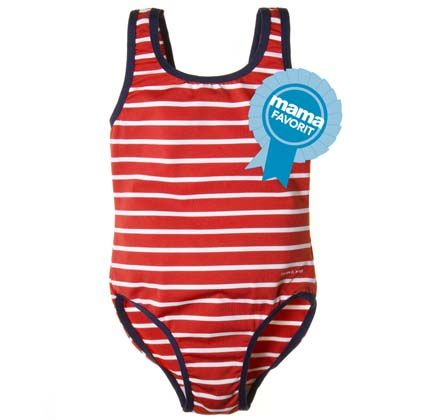 Cheeks would look super sweet in this bathing suit. Perfect for her swim lessons.