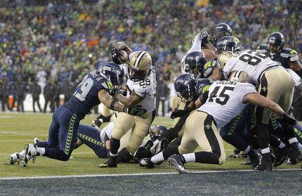 Khiry Robinson TD: Seahawks vs. Saints 2014