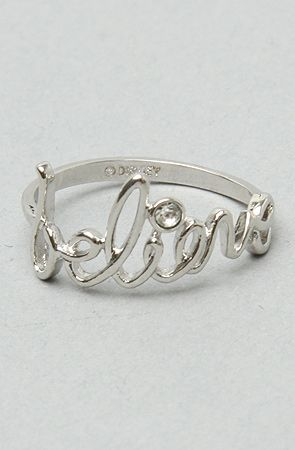 "The ""Believe"" Ring in Platinum by Disney Couture Jewelry"