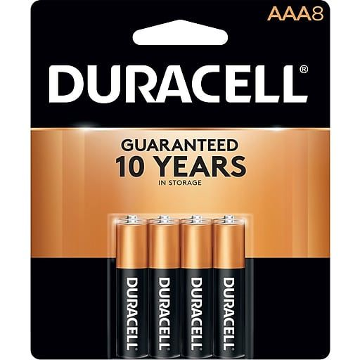 Duracell Coppertop Alkaline Batteries Aaa 8 Pack Mn2400b8z Staples Duracell Duracell Batteries Alkaline Battery