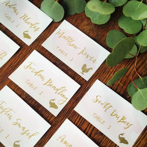 Wedding Escort Cards | Mint & Maple