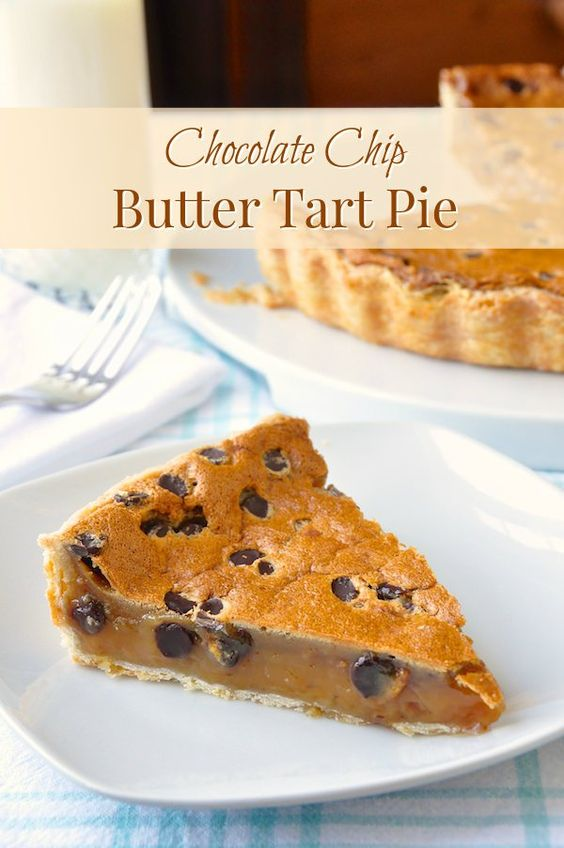 Chip Butter Tart Pie is an irresistible close cousin to a pecan pie ...