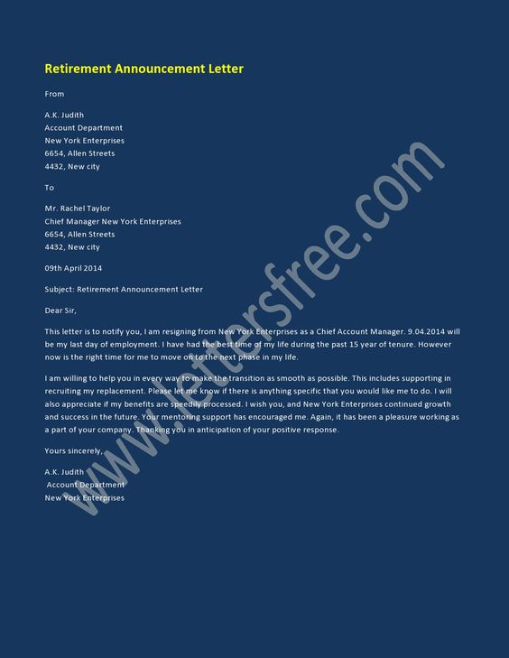 7 best Announcement Letter Examples images on Pinterest Formal - announcement letter sample format