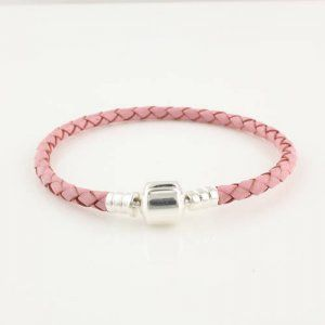 3072f1831bc10 official store pink single leather pandora bracelet 383c9 11bac