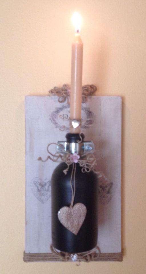 Porta candele realizzato con tutto materiale di riciclo. usata la ...