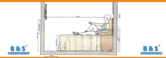 Altura ideal para colocar el tv desde la cama tv for Mueble que se pone a los pies de la cama