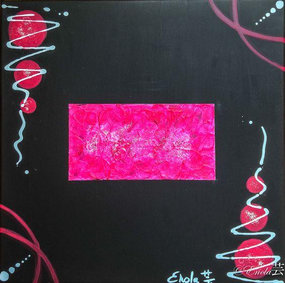 Tableau réalisé sur une feuille de lin qui sera sous cadre, peinture acrylique et modeling past au centre avec des paillettes argentées... A retrouver et disponible à la vente sur mon site internet : celine-farnier.wix.com/enola69