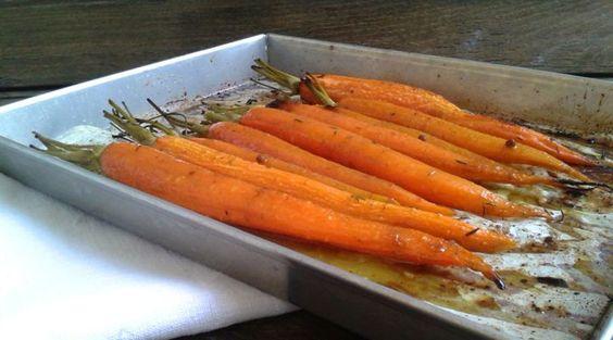 carote bio al miele, timo e zenzero: contorno colorato da cuocere in forno