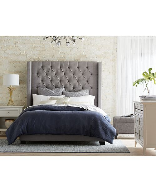 Furniture Monroe Upholstered Queen Bed Created For Macy S