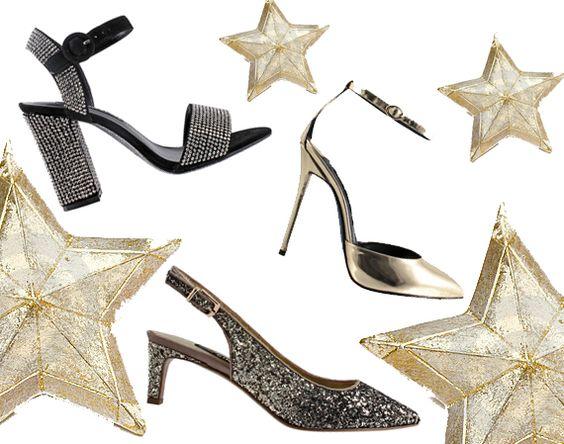 #CapsuleCollection natalizia, firmata #Cinti, propone una cascata di stelle da indossare, capace di far luccicare gli occhi #shoes #scarpe #natale2014 #collection #christmas #oro #gold #elegant #feste #Natale