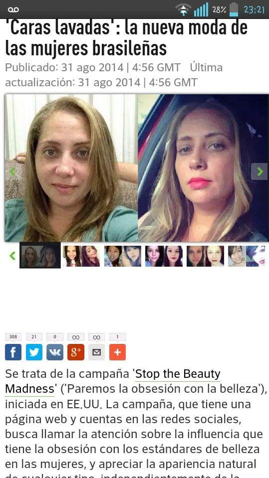 Liberandose del maquillaje y apariencias