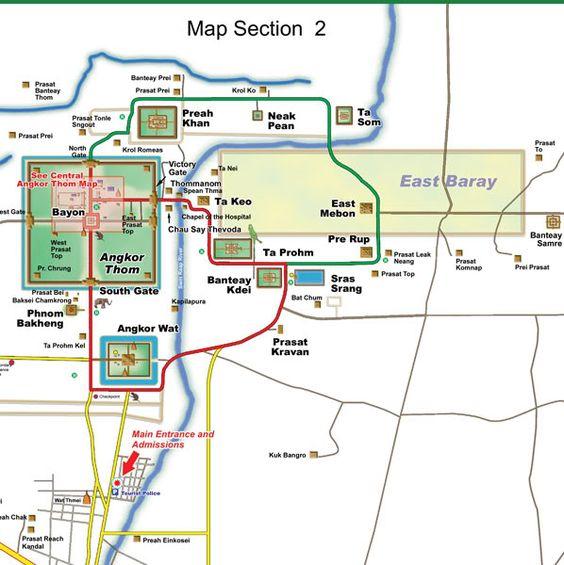 Vị trí của Angkor Thom trong quần thể Angkor