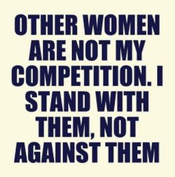 Mean #Business - I stand with women.