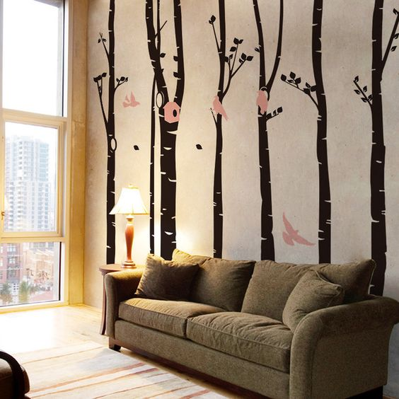 Xxxl tama o vinilo tree wall decals vinilo pegatinas de for Pegatinas murales pared