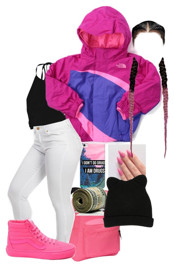 """""""❤"""" by yonnie99 ❤ liked on Polyvore featuring JanSport, Boohoo, Casetify, The North Face, Vans and George J. Love"""