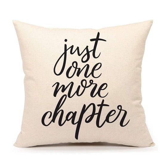 4TH Emotion Just One More Chapter Throw Pillow