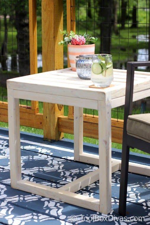 Simple 10 Diy Outdoor Side Table Toolbox Divas Diy Patio