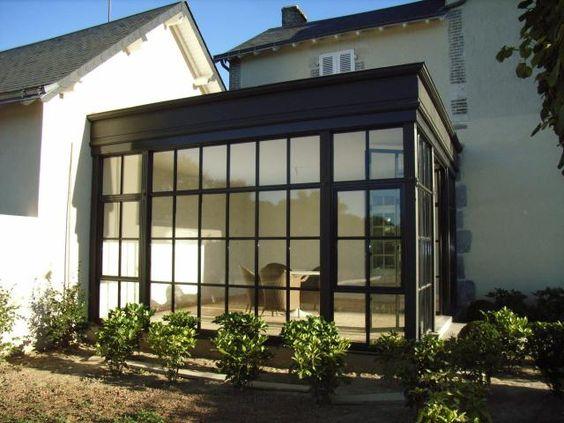 veranda verriere pr sentation de verri re v randa en acier maison pinterest extensions. Black Bedroom Furniture Sets. Home Design Ideas