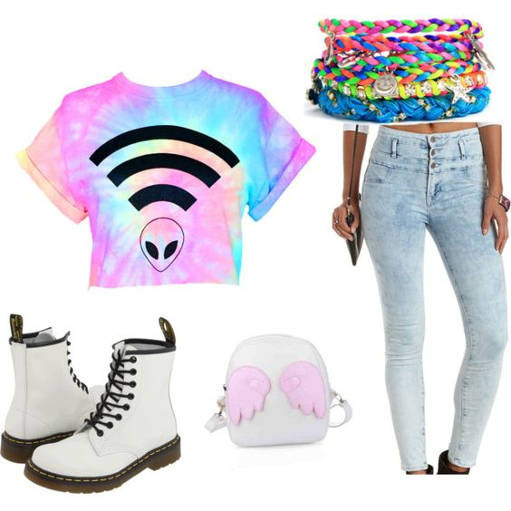 Fun by jasmine-saime on Polyvore featuring polyvore, fashion, style, Charlotte Russe and Dr. Martens