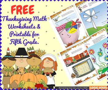 Thanksgiving Math for 5th Grade - Math Games - Math Centers ...
