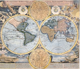 Free Vintage Image Download ~ Old Maps - to use in pages showing immigration