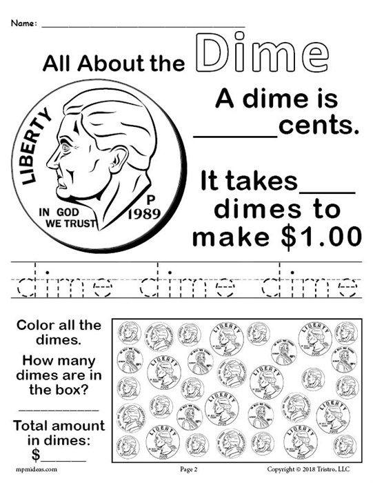 All About Coins 4 Printable Money Worksheets Money Worksheets Money Math Teaching Money Free nickel worksheets for kindergarten