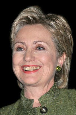 Hillary's teeth are very worn out...
