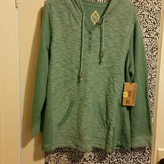 Sweater/Hoodie Really cute and comfortable sweater with hood and front pocket. NWT Ruff Hewn Sweaters