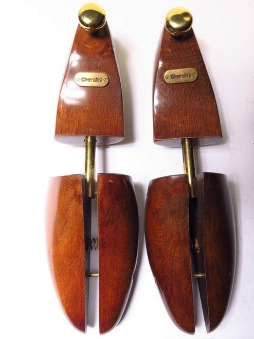 Church S Wood Brass Shoe Stretchers Trees Mens Uk Size L In 2020 Shoe Stretcher Men Vintage Men