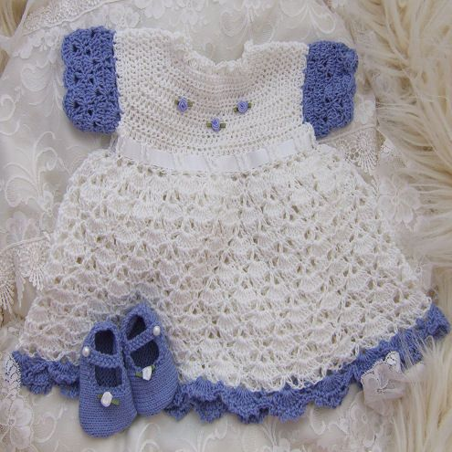 Free Crochet Pattern For Christmas Dress : Free+Crochet+Baby+Dress+Patterns ... baby dress free ...