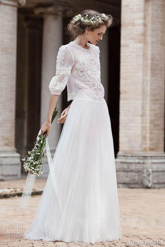 Así será mi vestido de novia.