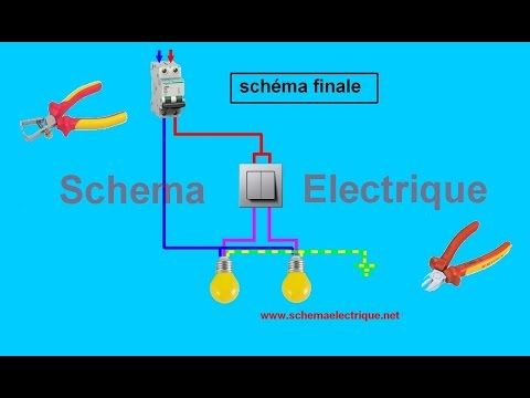 Schema Branchement Cablage Double Allumage Youtube Schema Schema Electrique Va Et Vient Electrique
