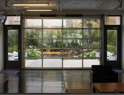 Contemporary Aluminum Clear Tempered Glass Garage Door Modern Garage Doors Commercial Garage Doors Garage Door Design