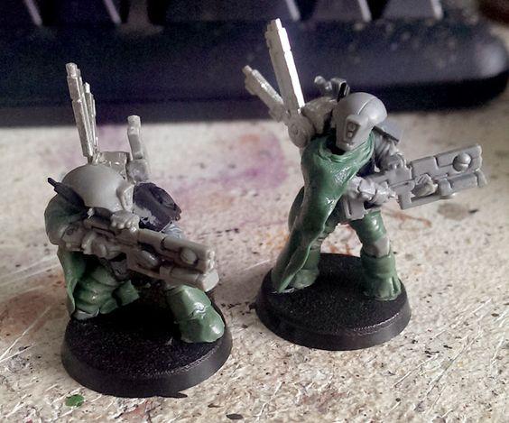 Tau Drop Troops - Step by step