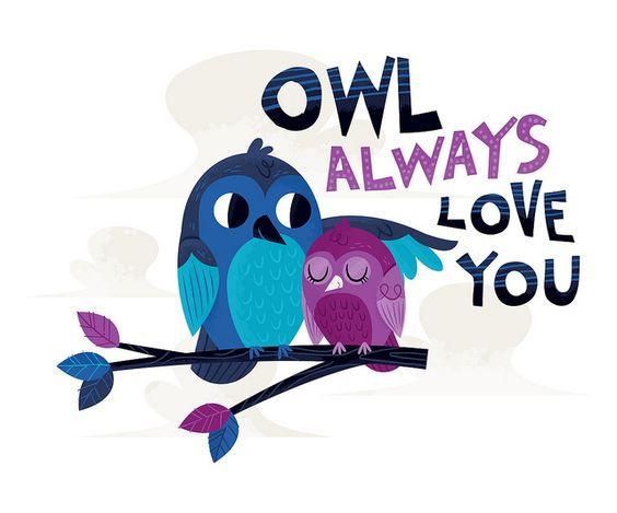 'Owl Valentine' by Alyssa Nassner