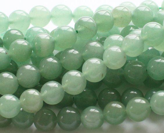 2 strands 6mm round Green Aventurine genuine gemstone beads Approx 200 beads
