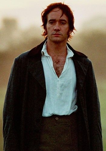 Fitzwilliam Darcy (portrayed by Matthew MacFadyen). Oh what a girl would give to have him approach her in the mist