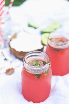 Hydration boost: watermelon-lime-coconut refresher