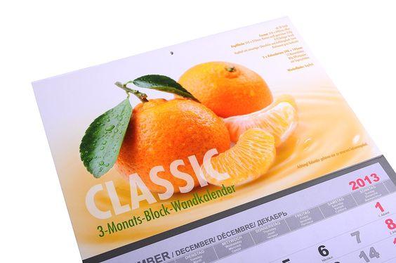 3-Monats-Block-Wandkalender CLASSIC