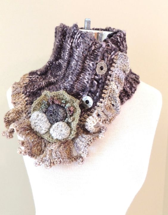 Ocean Breeze Beach Stone Scarf Sand and beach by Valerie Baber Designs - IntricateKnits, $70.00